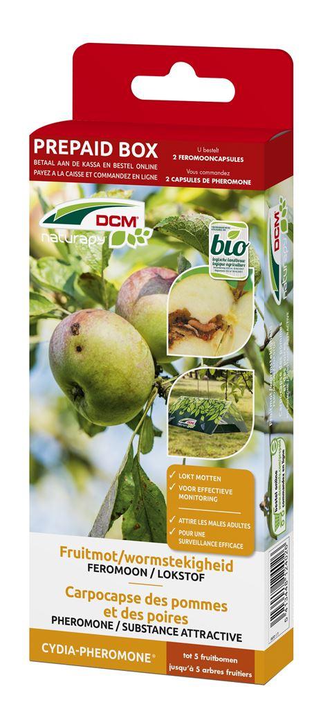 dcm naturapy® cydia-pheromone - feromooncapsules tegen fruitmot (2 capsules) (prepaid box)
