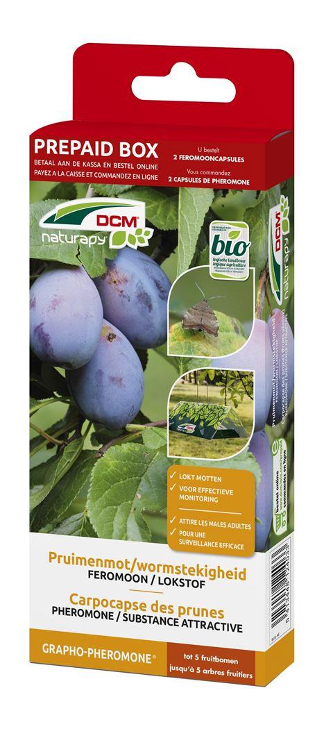 dcm naturapy® grapho-pheromone - feromooncapsules tegen pruimenmot (2 capsules) (prepaid box)