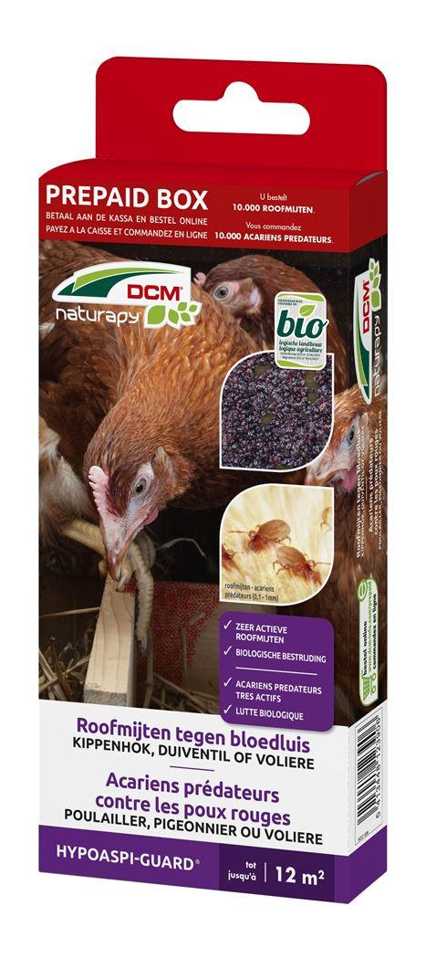 dcm naturapy® hypoaspi-guard - roofmijten tegen bloedluis of rode vogelmijt (prepaid box)