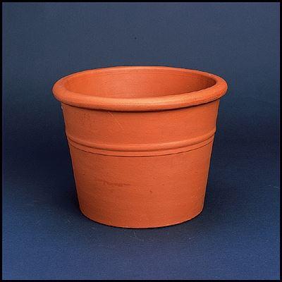 bloempot cilinder bordato terracotta