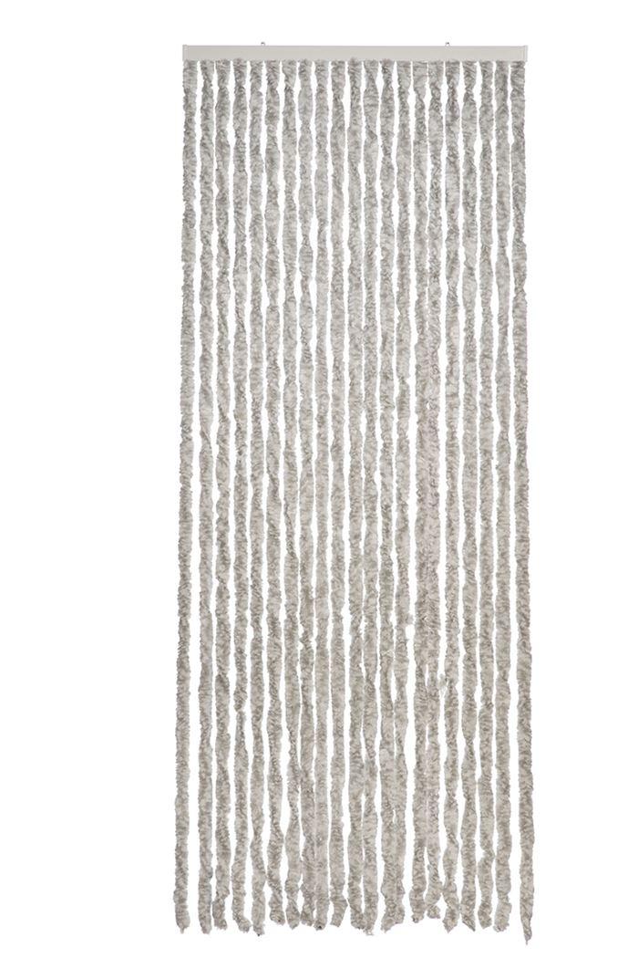 deurgordijn martinique grijs/wit