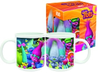 disney trolls porcelain mug in gift box