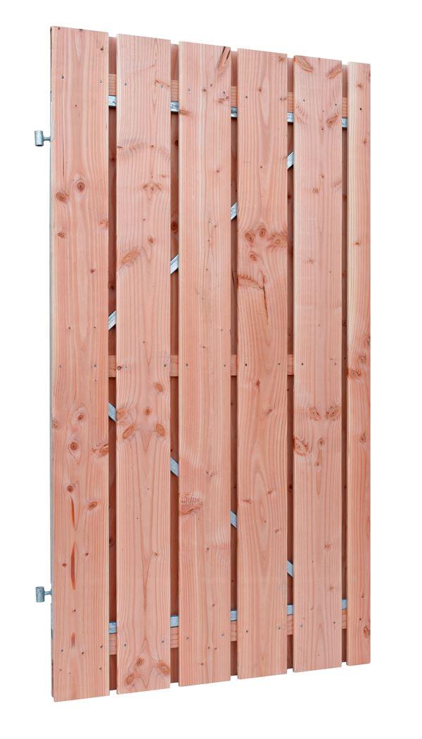 douglas geschaafde plankendeur op verstelbaar stalen frame onbehandeld