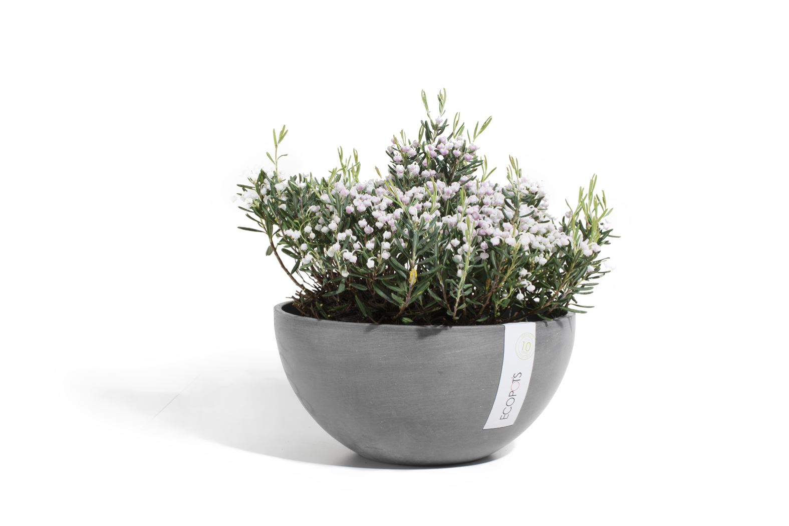 ecopot's brussels ronde bowl grijs