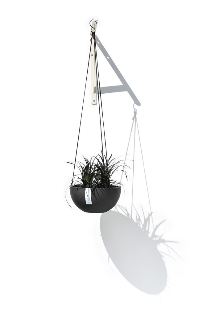 ecopot's hanging brussels hangpot dark grey
