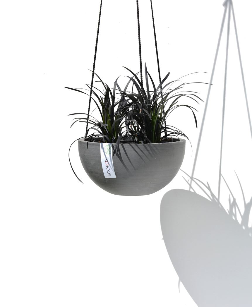 ecopot's hanging brussels hangpot grijs