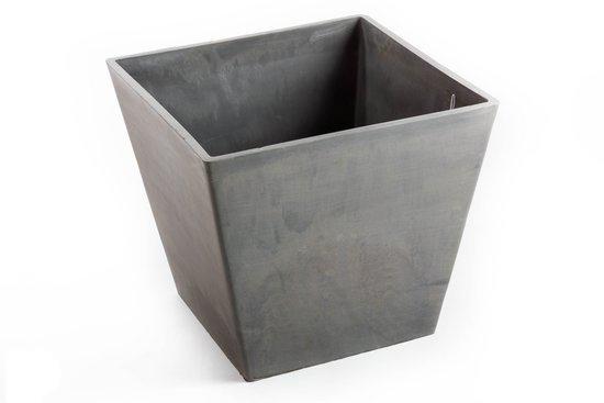 ecopot's rotterdam vierkant taps grijs