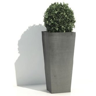 ecopot's rotterdam vierkant taps hoog grijs