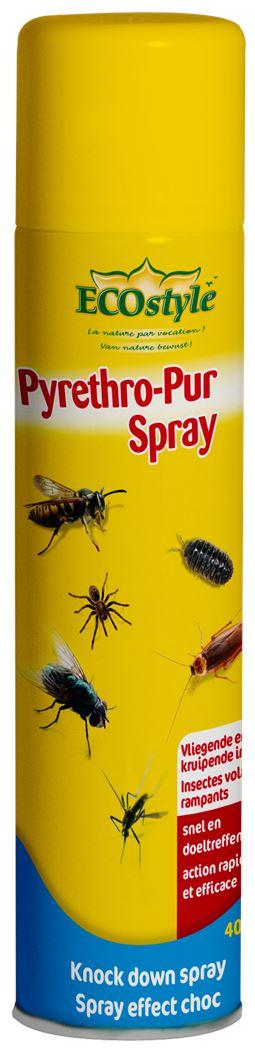 ecostyle pyrethro-pur spray tegen vliegende & kruipende insecten