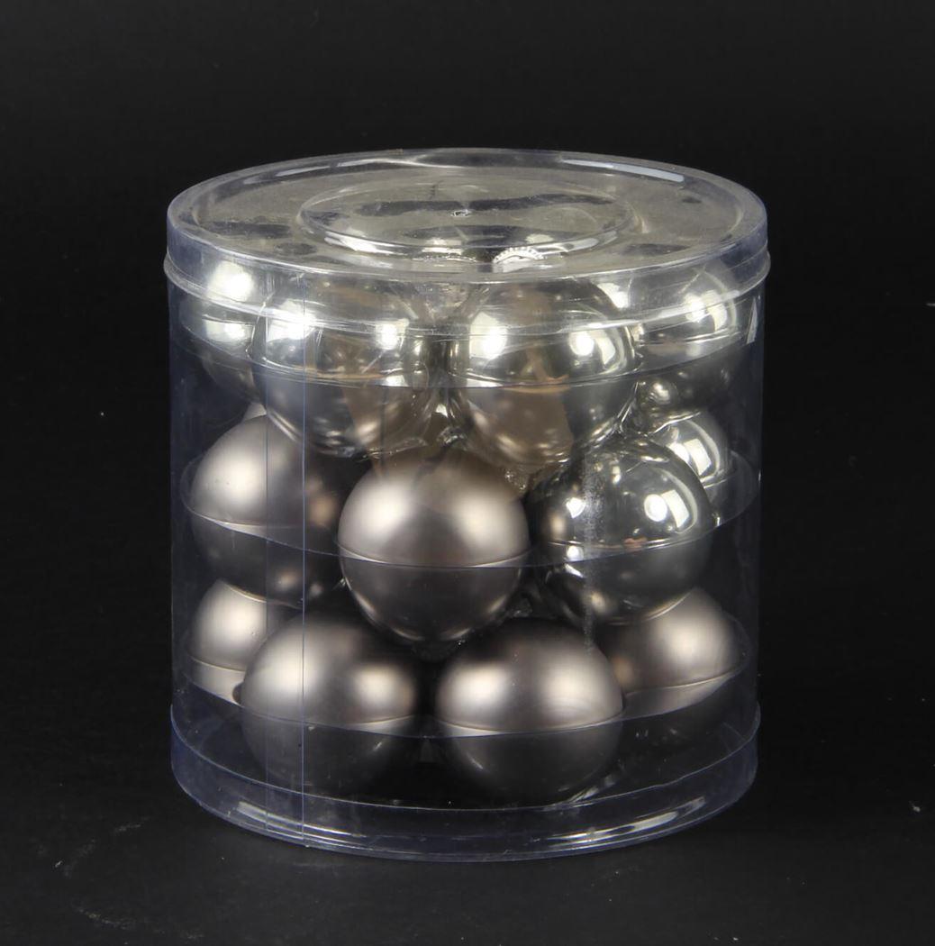 effen ballen glans/mat lichtgrijs (18sts)