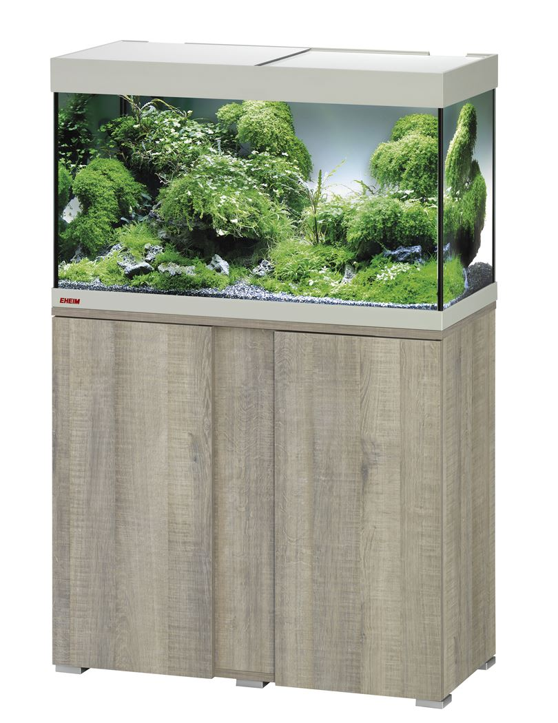 eheim aquarium vivalineled 126 incl.meubel grijs beuk (0613001)