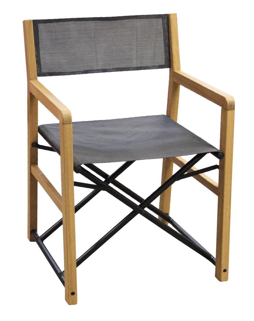 estella oakalyptus wooden director chair charcoal