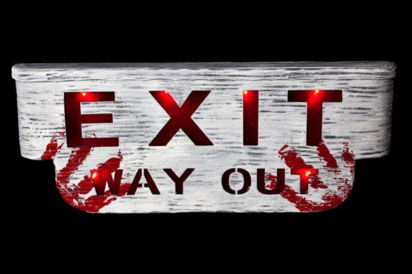 exit way out met licht en geluid