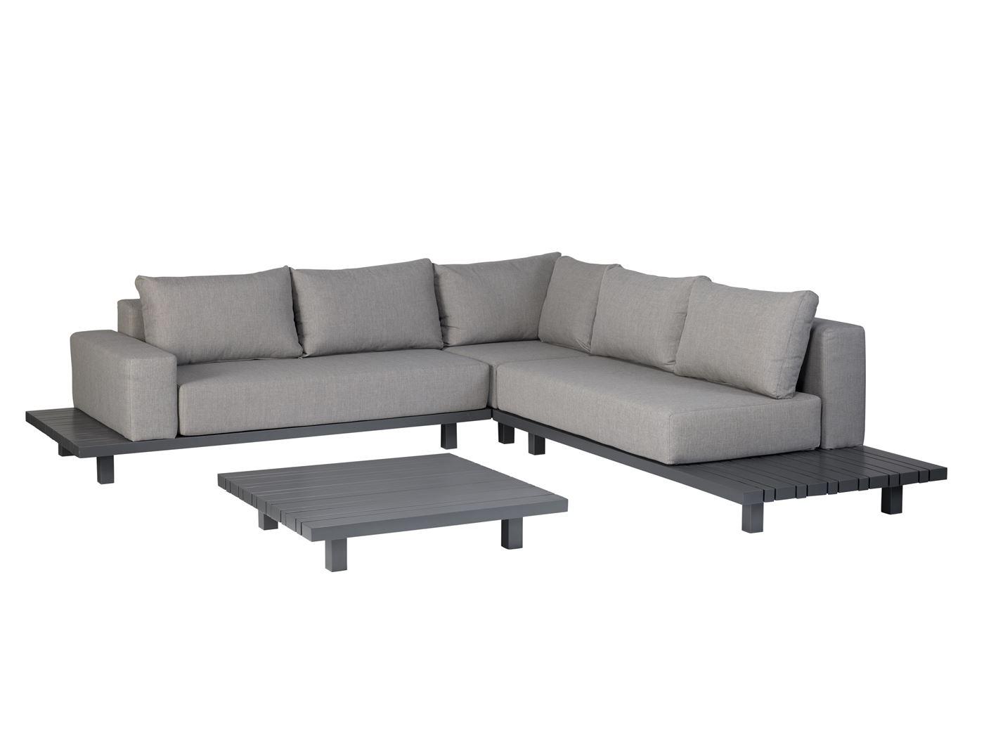 exotan paradiso lounge corner set with coffee table