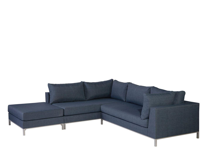 exotan sicilië lounge corner set left with hocker bluejeans
