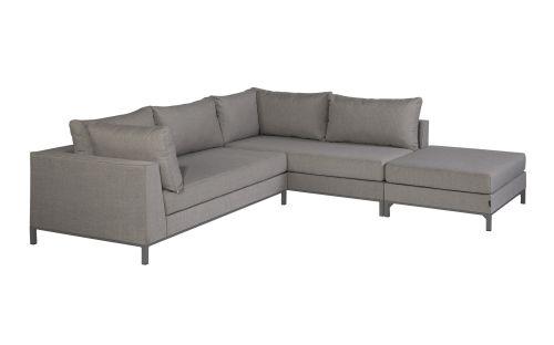 exotan sicilië lounge corner set right with hocker taupe