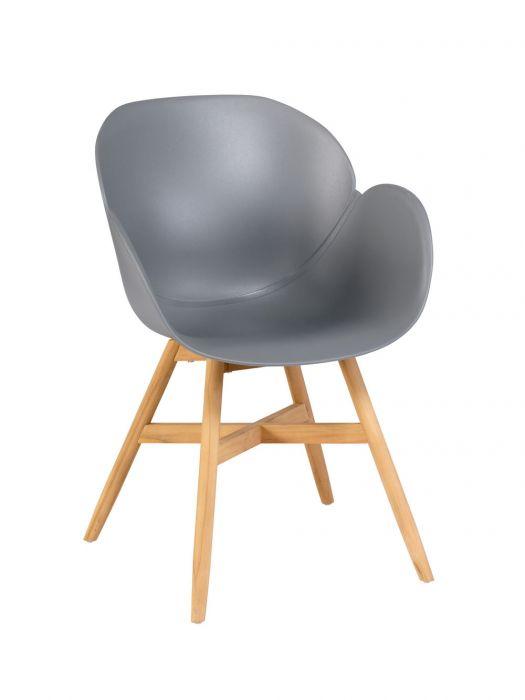 exotan tulip dining chair grey