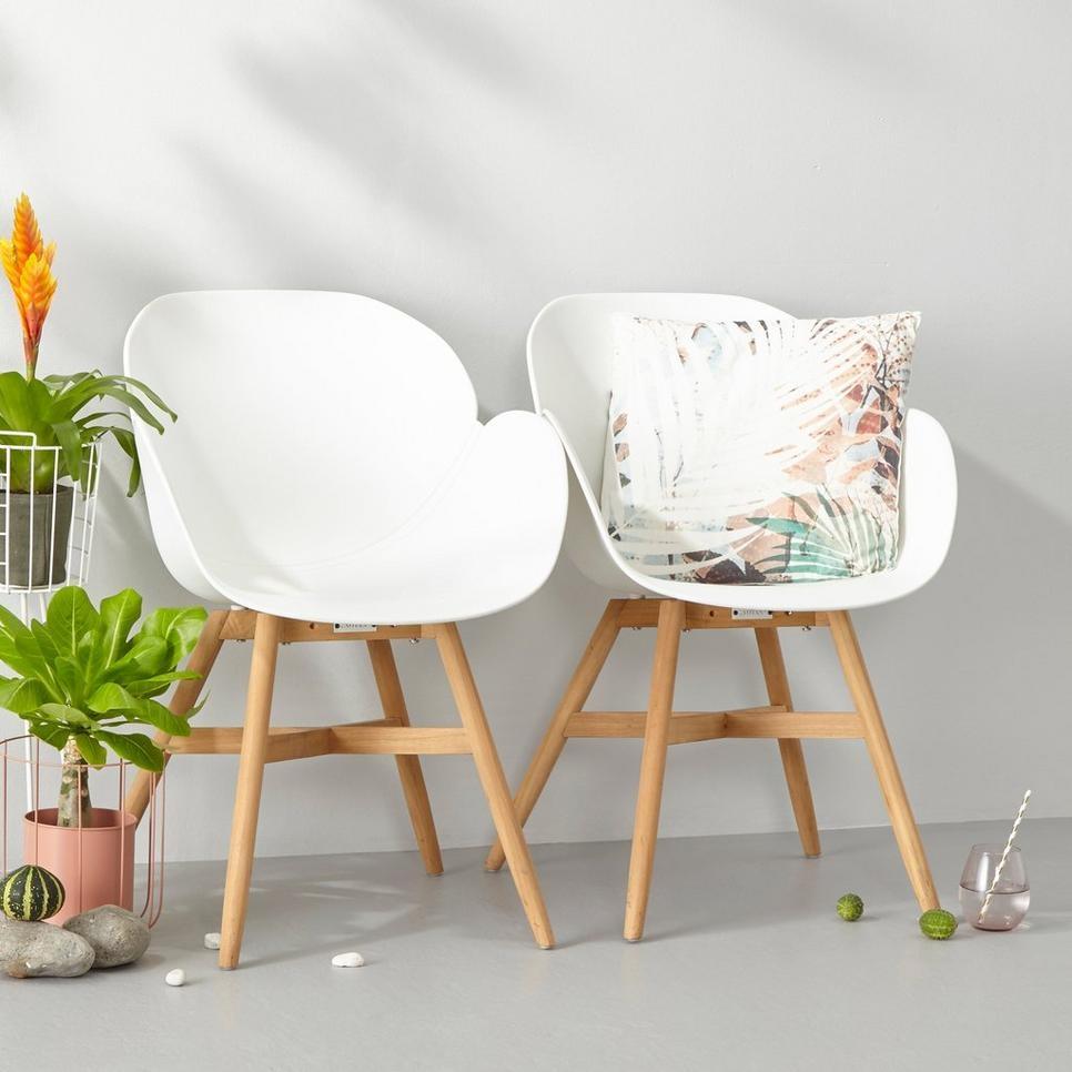 exotan tulip dining chair white