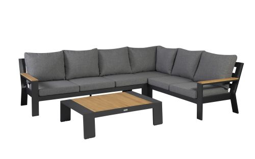 exotan valerie lounge corner set right with coffee table