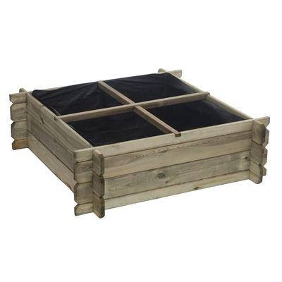 vierkante moestuin piko (met geotextiel)