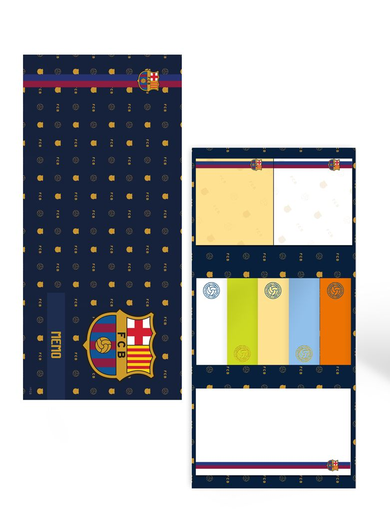 fc barcelona sticky notes extra