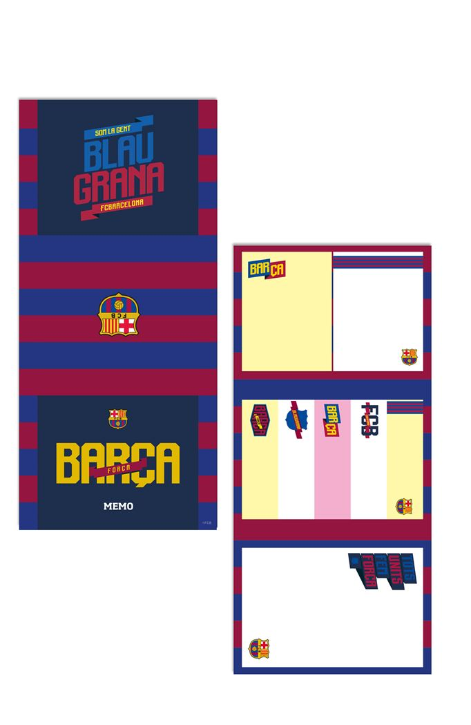 fc barcelona sticky notes fans