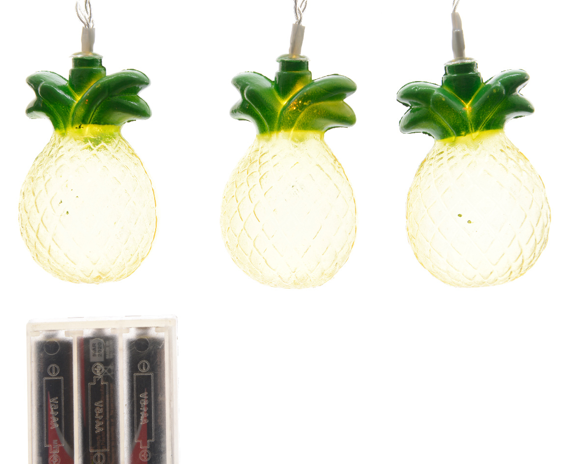 feestverlichting ananas led transparant warmwit (b/o)