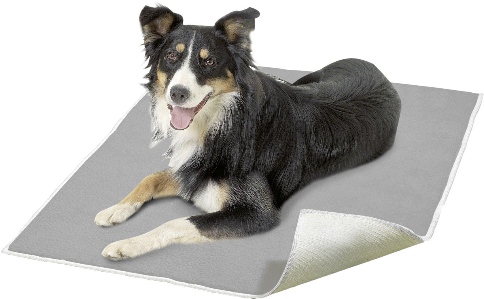 fleece hondendeken grijs