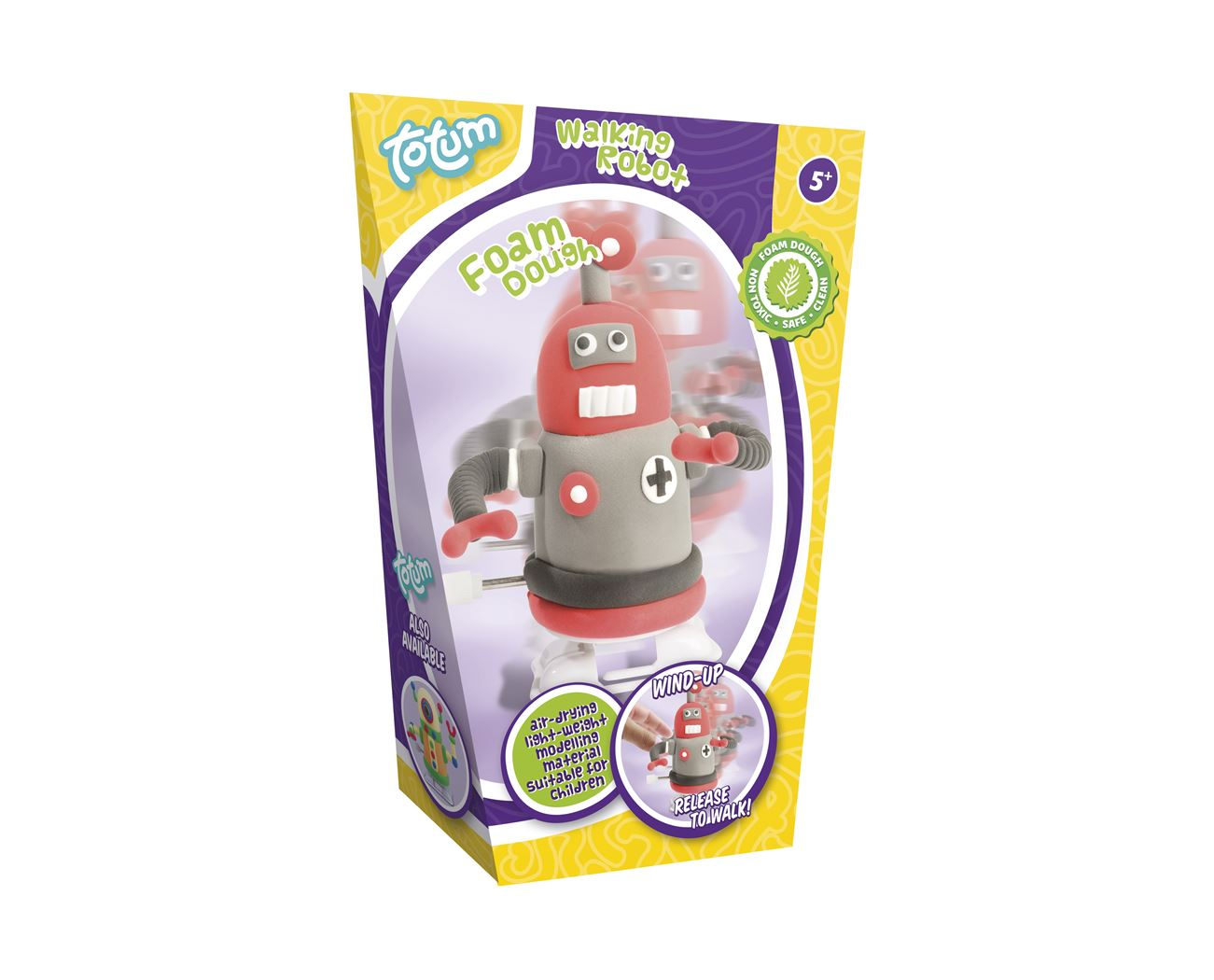 foam dough robot red/purple