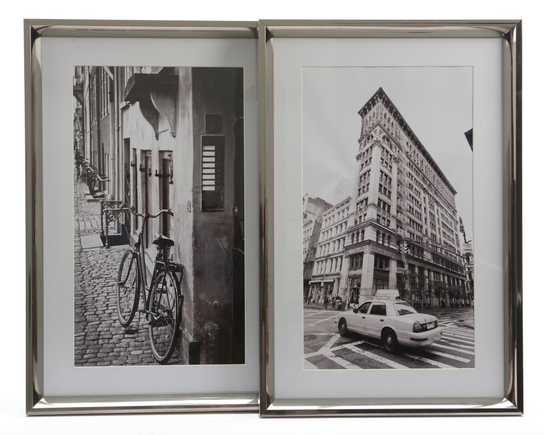 foto met lijst stad zwart/wit (2ass.)