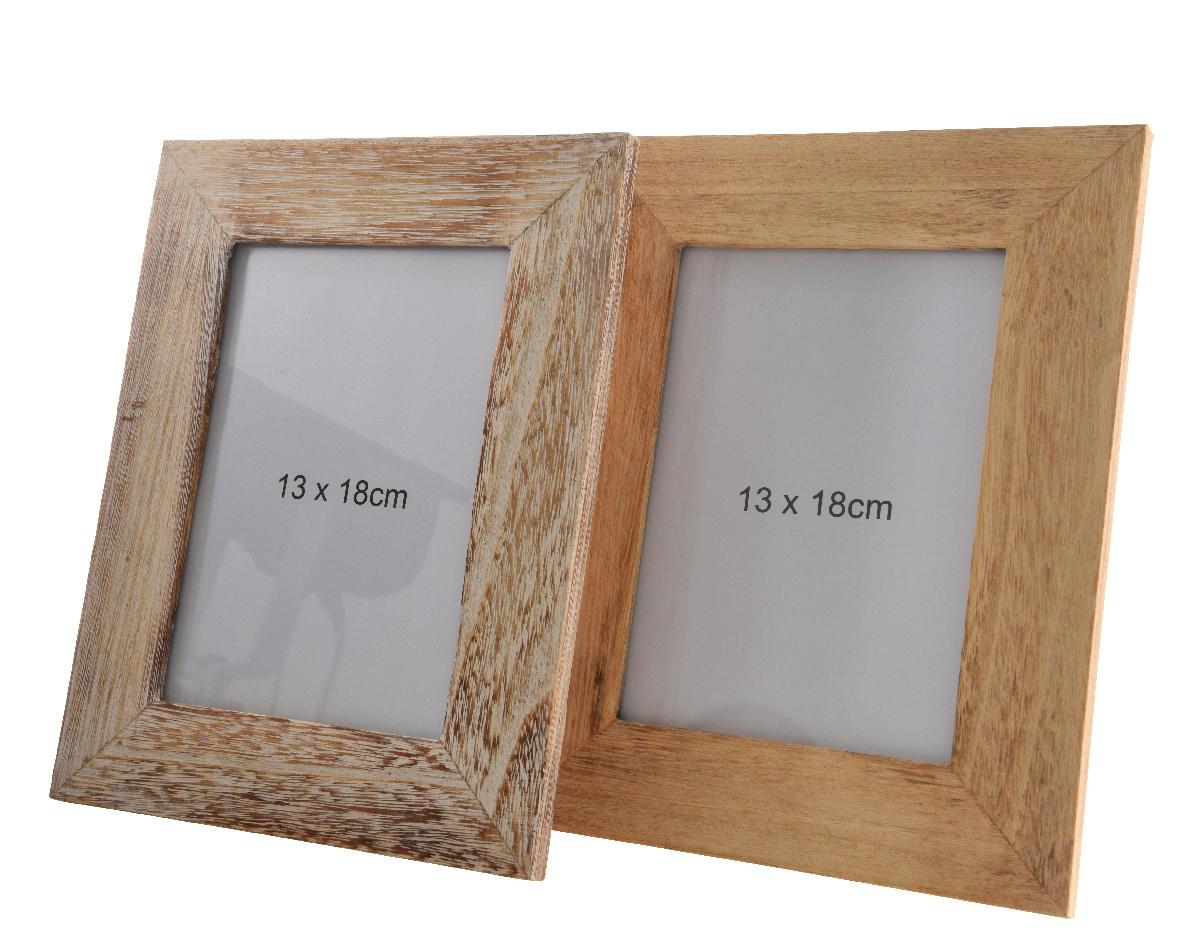 fotolijst paulownia hout (2 kleuren ass.)