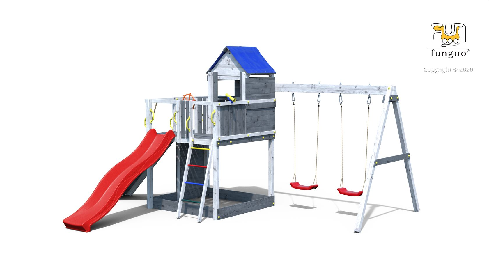 fungoo speelset treehouse 3 grey/white