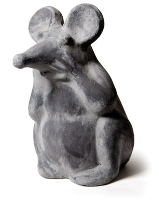 funny mouse thinking grey wash