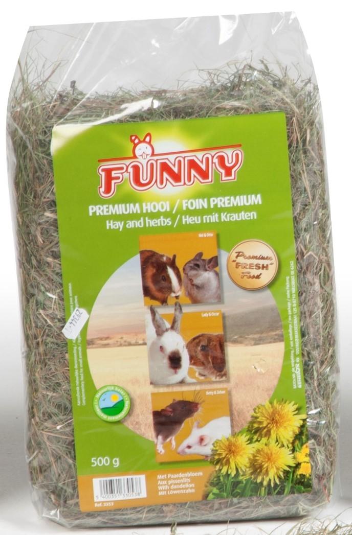 funny premium hooi met paardenbloem
