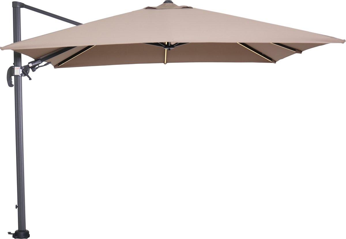 garden impressions hawaii lumen parasol carbon black/taupe