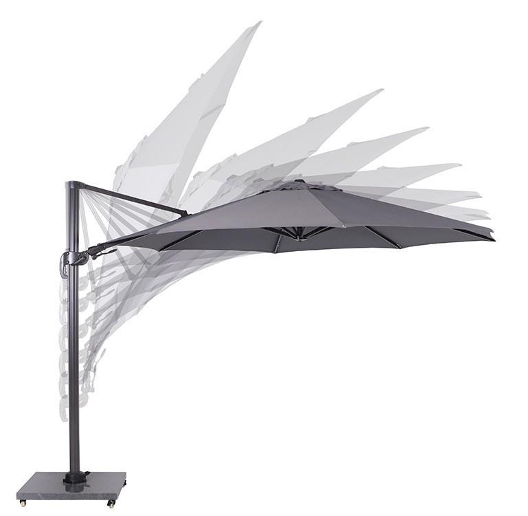 garden impressions hawaii parasol carbon black/licht grijs
