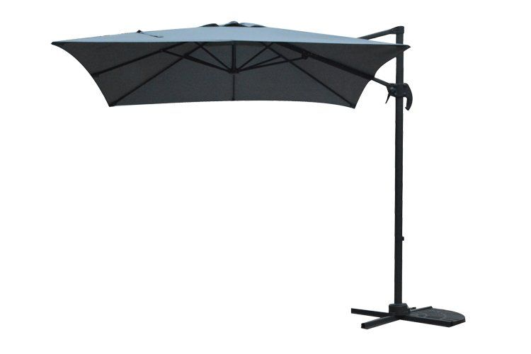 garden impressions hawaii parasol s carbon black/donkergrijs