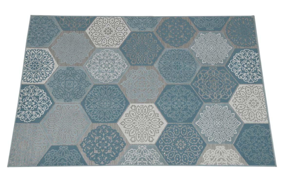 garden impressions hexagon karpet turquoise