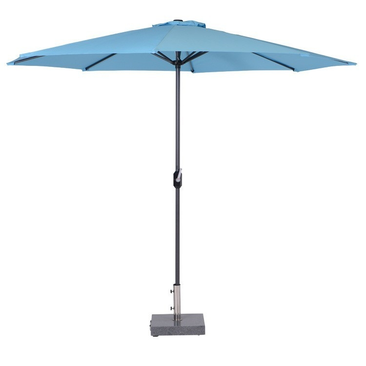 garden impressions lotus parasol carbon black/lichtblauw