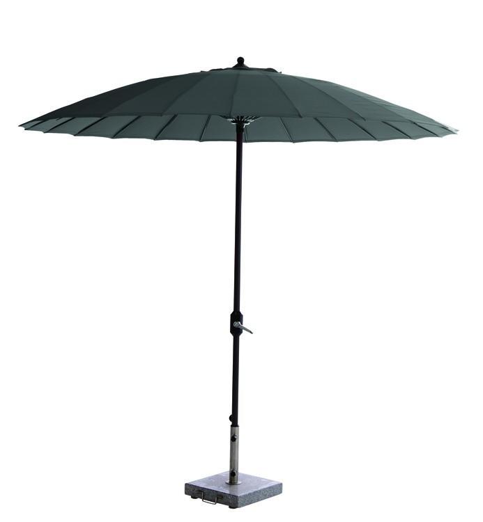 garden impressions manilla parasol carbon black/donkergrijs