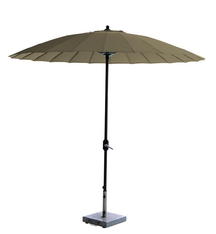 garden impressions manilla parasol carbon black/taupe