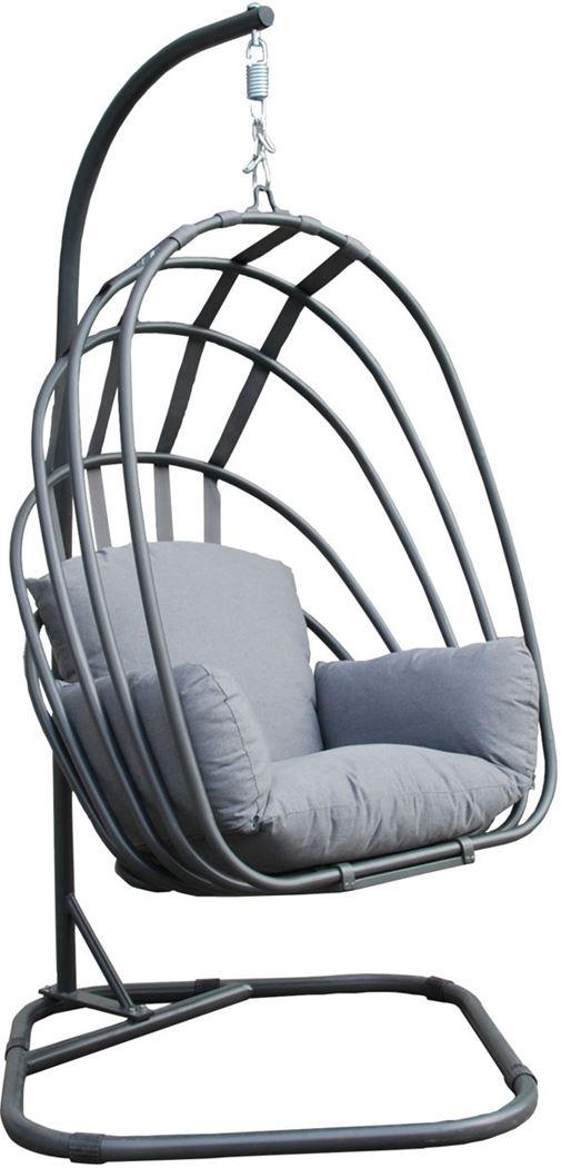 garden impressions suez schommelstoel - inklapbaar - royal grey