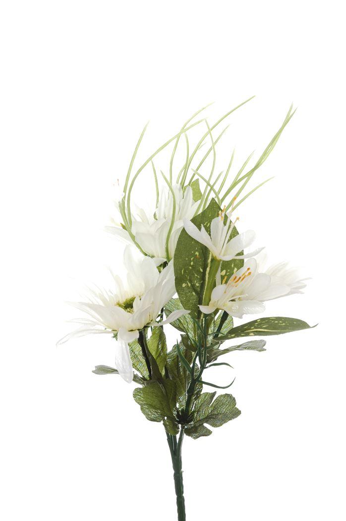 gerbera/mini flower bush x 5 cream