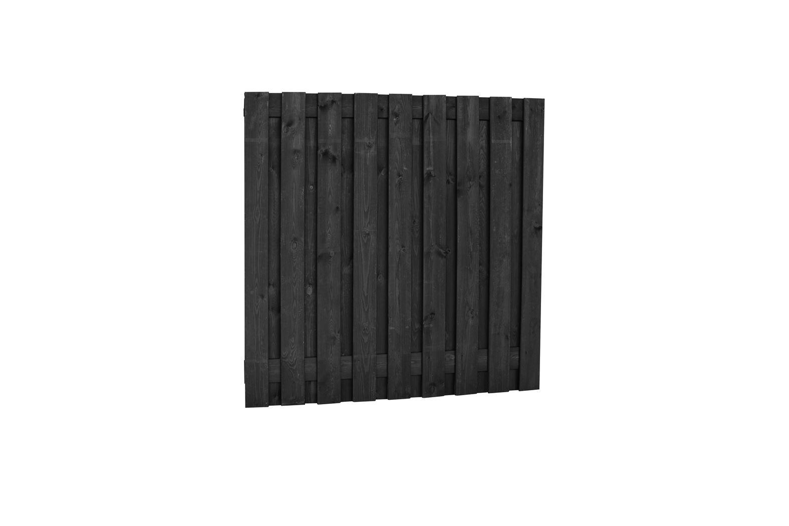 geschaafd plankenscherm zwart