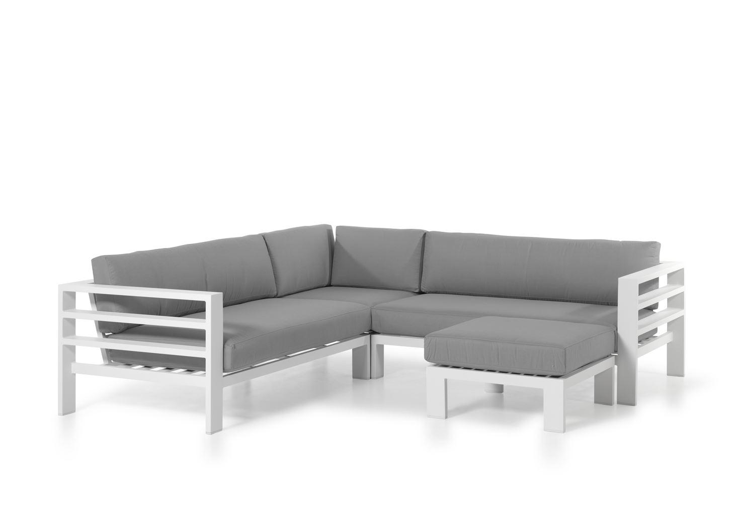 gescova cadiz modular set alu white cushions grey