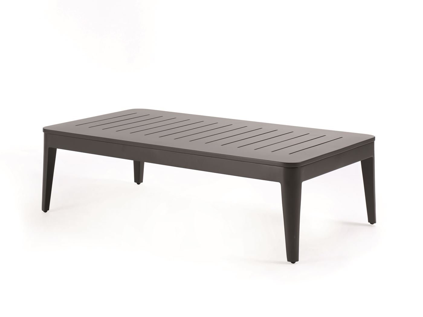 gescova fabio coffee table alu charcoal rope antrac + cush