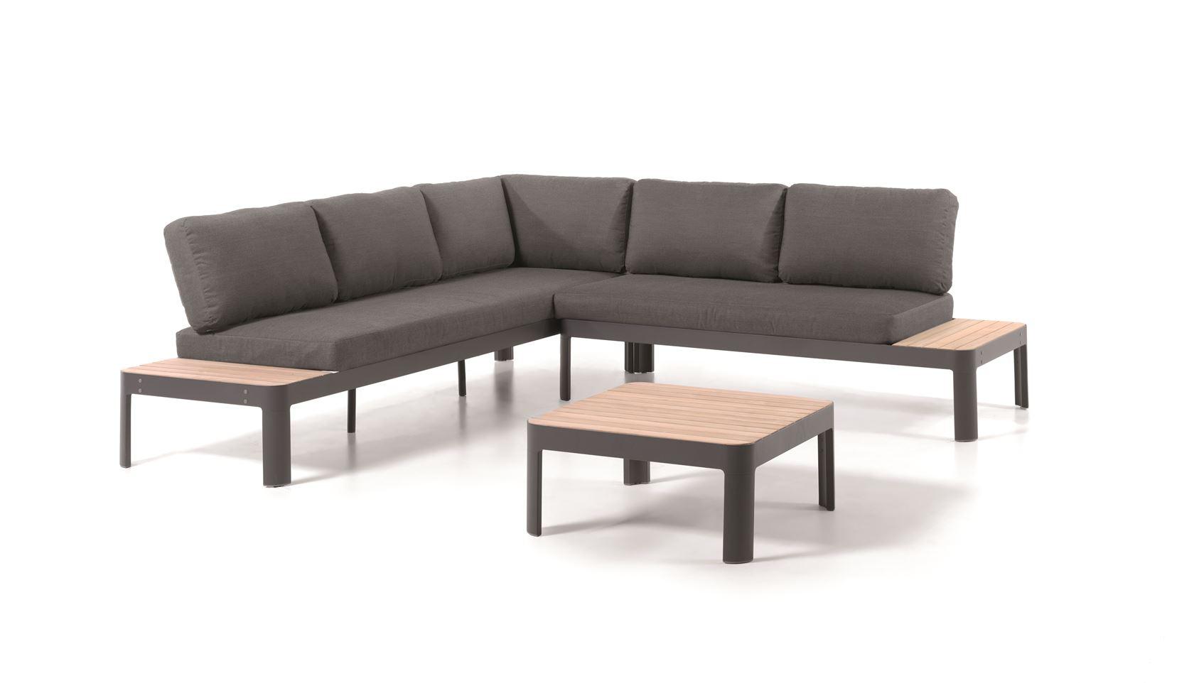 gescova oslo lounge set alu teak cushions grey