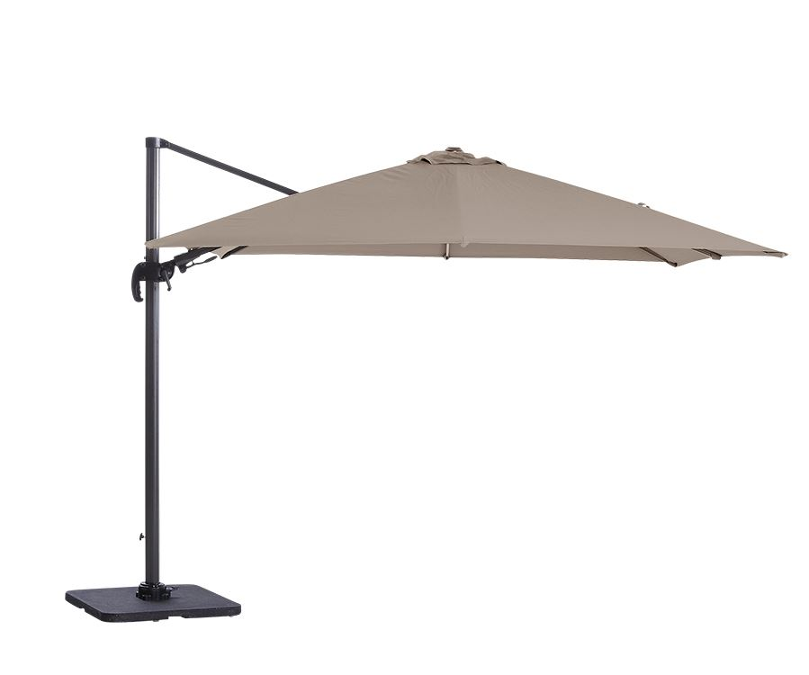 garden impressions parasol hawai royal grey/lichtgrijs