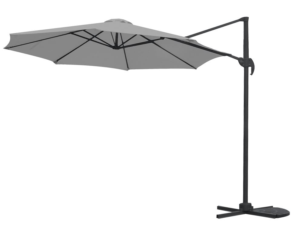 garden impressions parasol hawai s mat royal grey/donkergrijs