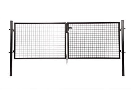 giardino dubbele poort zwart ral9005